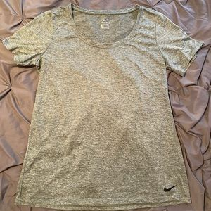 Green Marled Nike Scoop Neck Tee size L